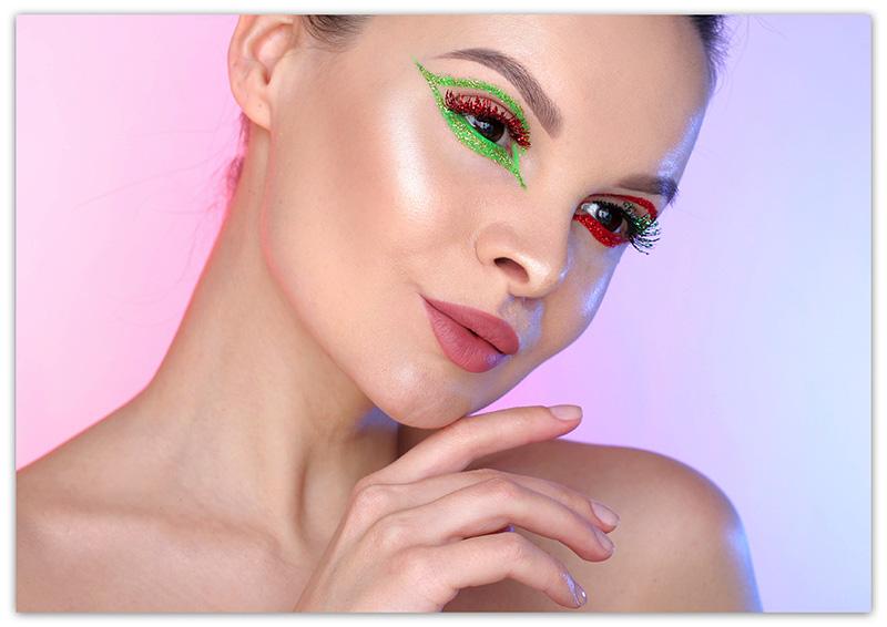 New Years 2019 Makeup, Новогодний макияж 2019, Макияж с блестками на Новый год
