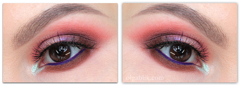 Макияж в коричнево-розовых тонах - фото