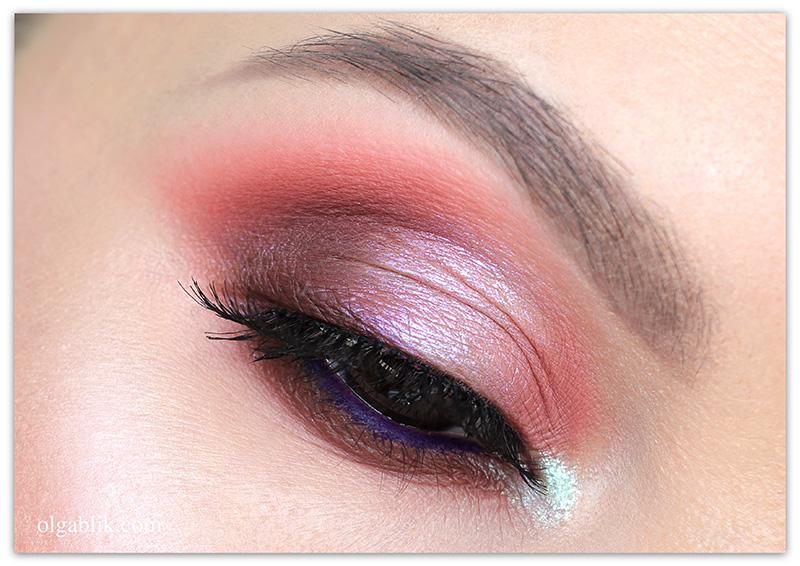 Макияж глаз в коричнево-розовых тонах