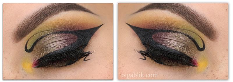 Необычные стрелки для глаз, Макияж с креативной стрелкой, Креативный стрелки и макияж