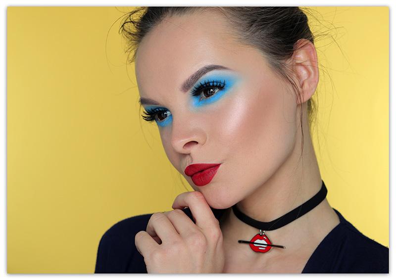 Голубой макияж глаз, Макияж с голубыми тенями, Голубые тени и макияж