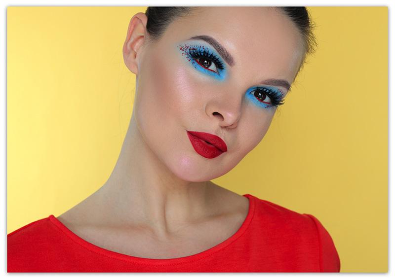 Контрастный макияж глаз, Макияж на контрасте