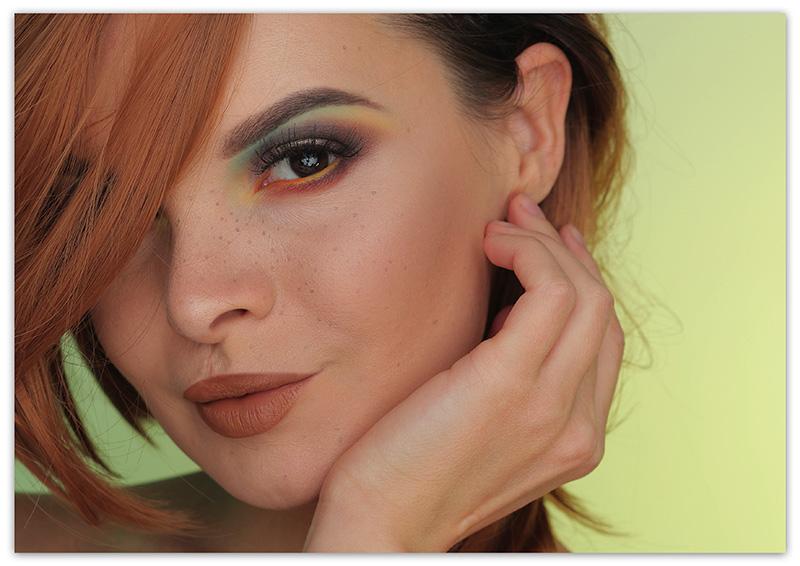 Макияж для карих глази рыжих волос