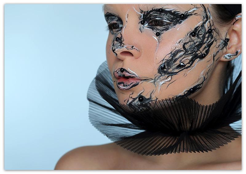 Необычный креативный макияж , фото, Креатив в макияже