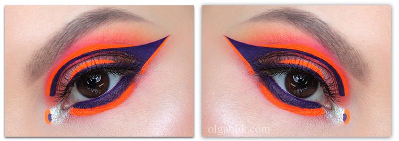 Креативный стрелки, Стрелки на глазах, Цветные стрелки макияж, Стрелки макияж
