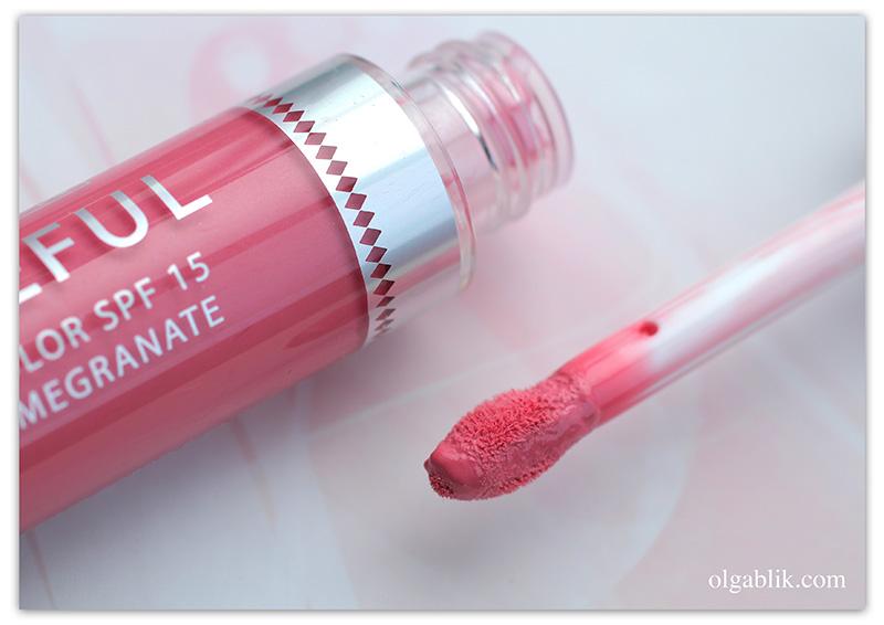Жидкая помада-блеск Seventeen Shineful Liquid Color SPF 15, отзывы, фото, свотчи