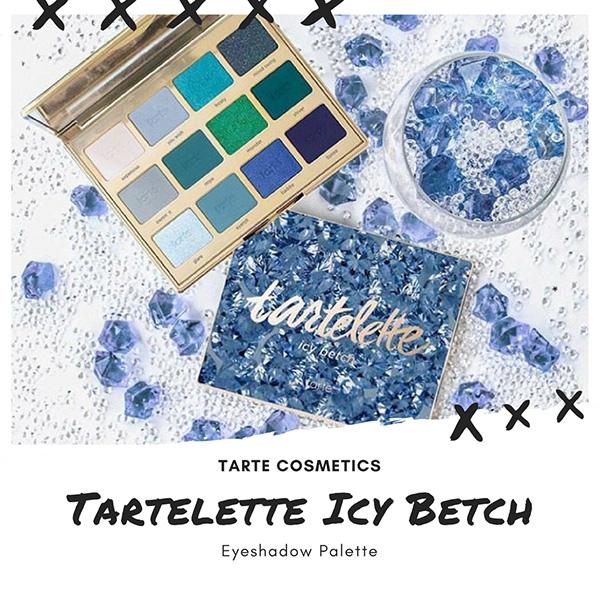 Палетка теней Tarte cosmeticsTartelette Icy Betch Eyeshadow Palette, новинки декоративной косметики 2018