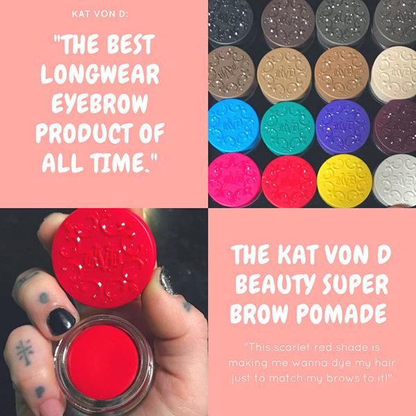 Помада для бровей The Kat Von D Beauty Super Brow pomade, новинки декоративной косметики 2018