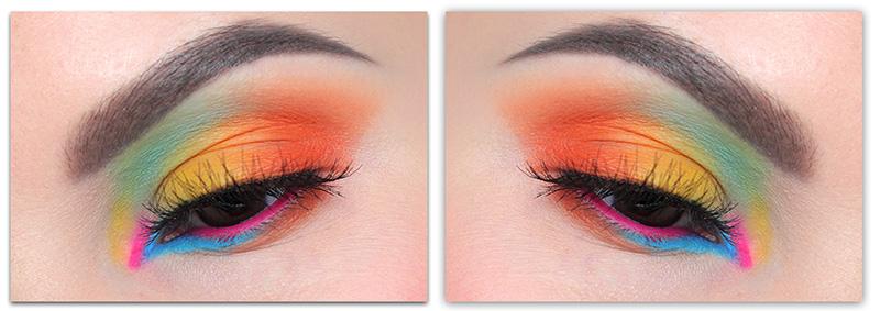 Цветной макияж для карих глаз 2019