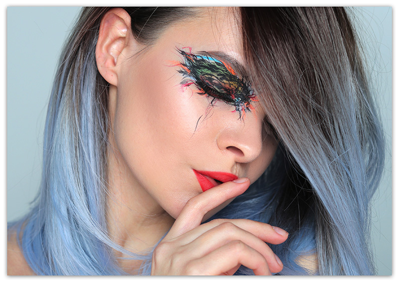 Непростой креативный макияж