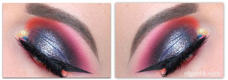 макияж с глиттером