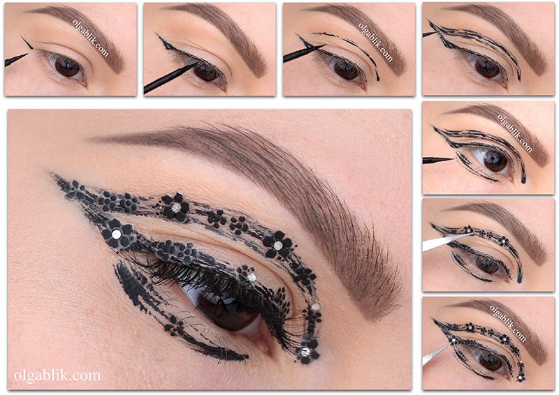 Креативный макияж глаз пошагово