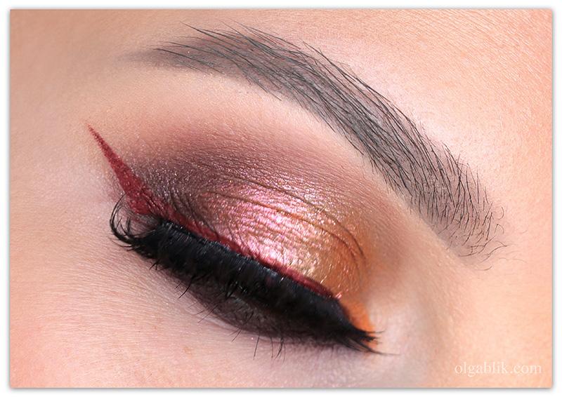 Золотой макияж для карих - фото и пошаговая схема