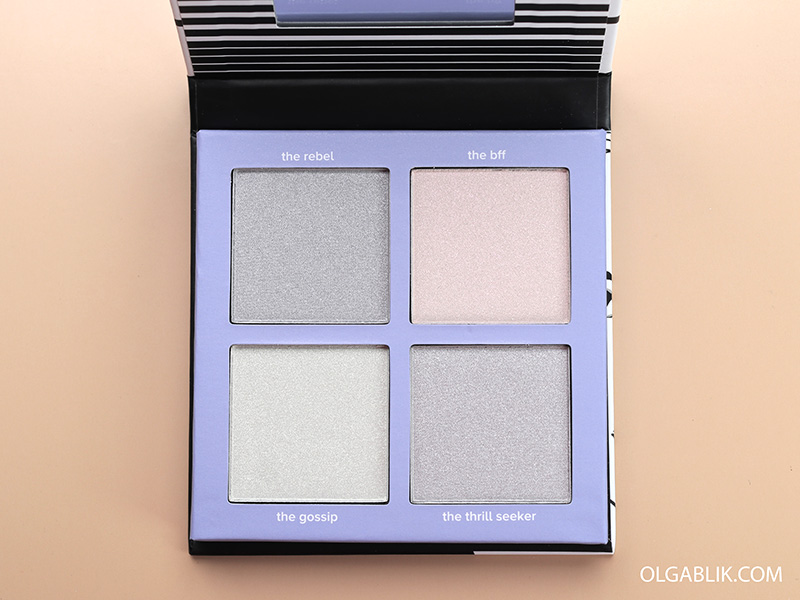 Хайлайтер Lottie London Shimmer Squad Powder Highlighter Quad, отзывы, фото