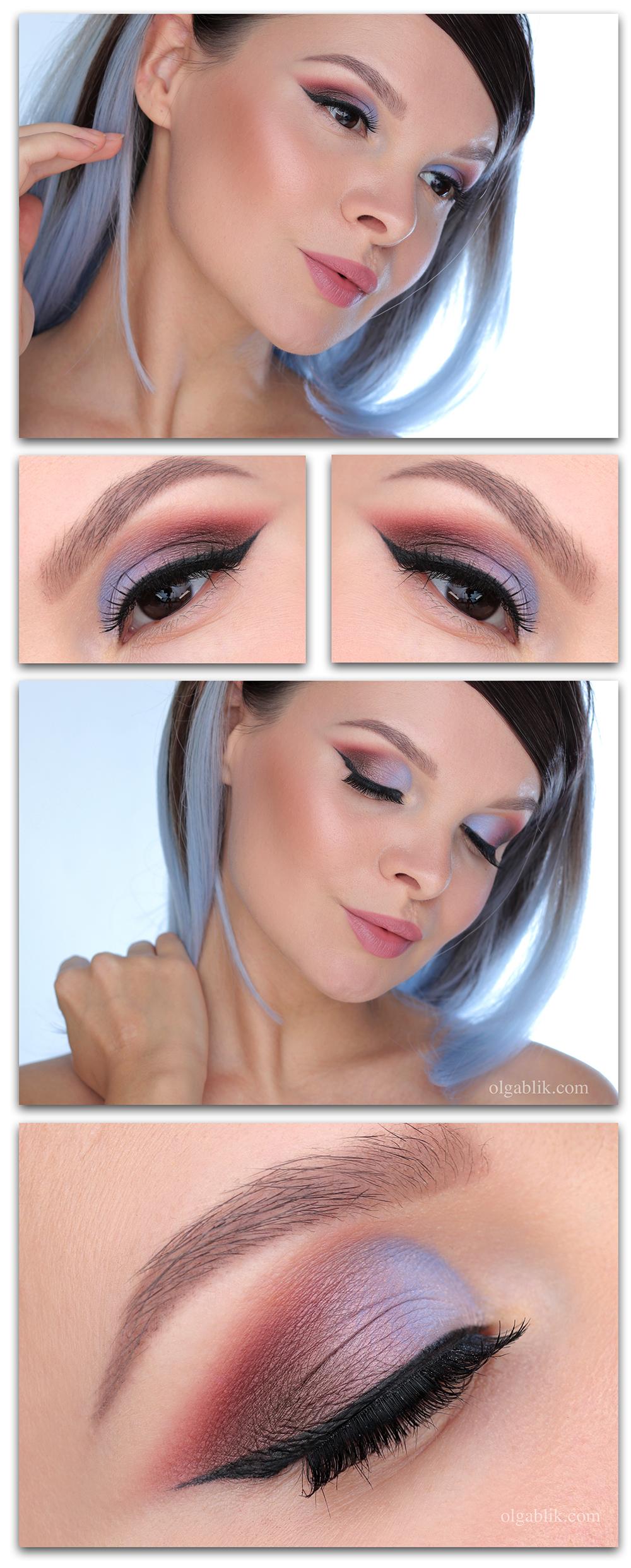 Голубые тени, Голубые тени макияж для карих глаз, Синие тени