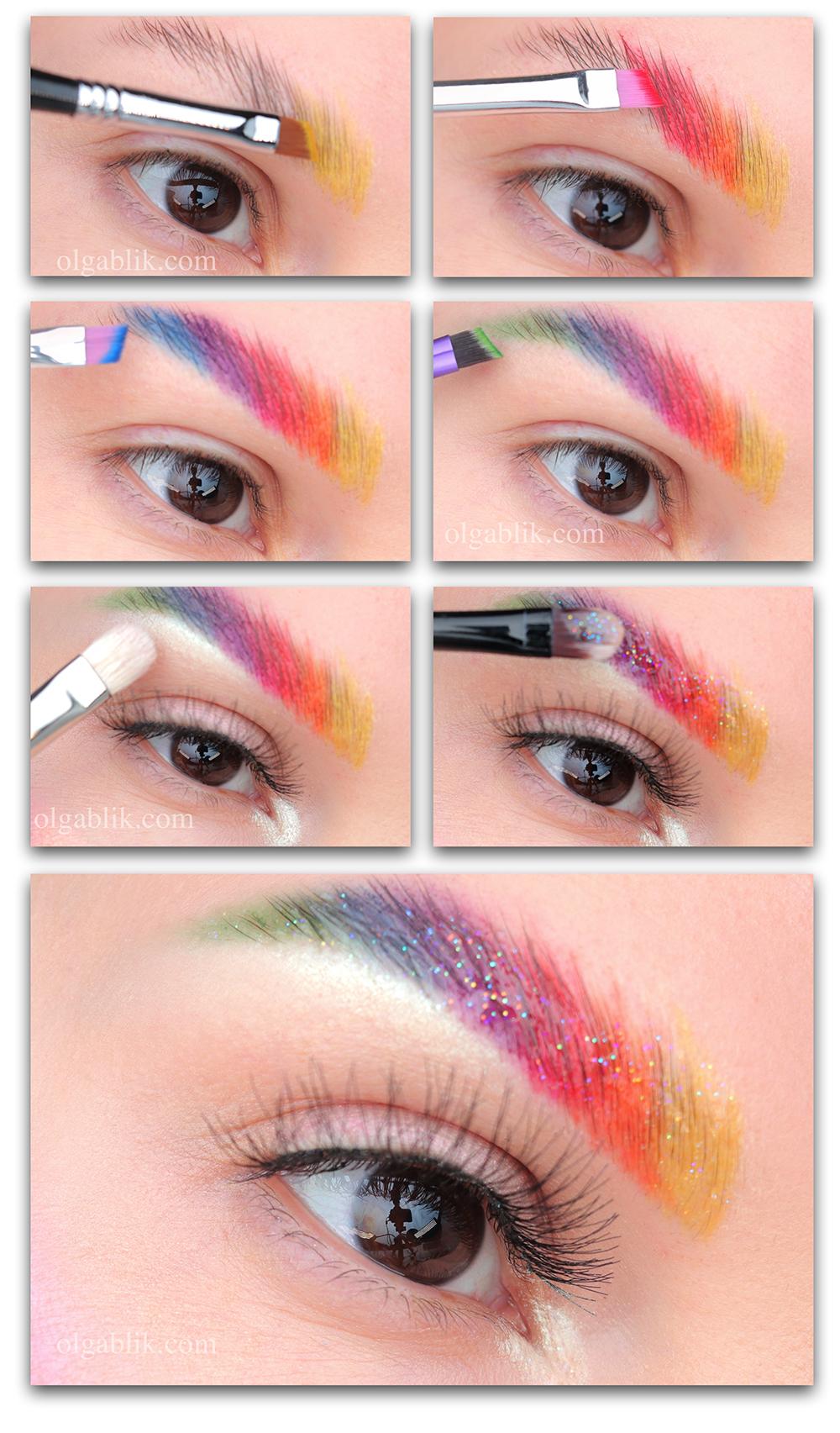 Креативный макияж пошагово, креативный макияж бровей