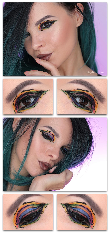 Макияж глаз с жидкой подводкой, макияж глаз фото