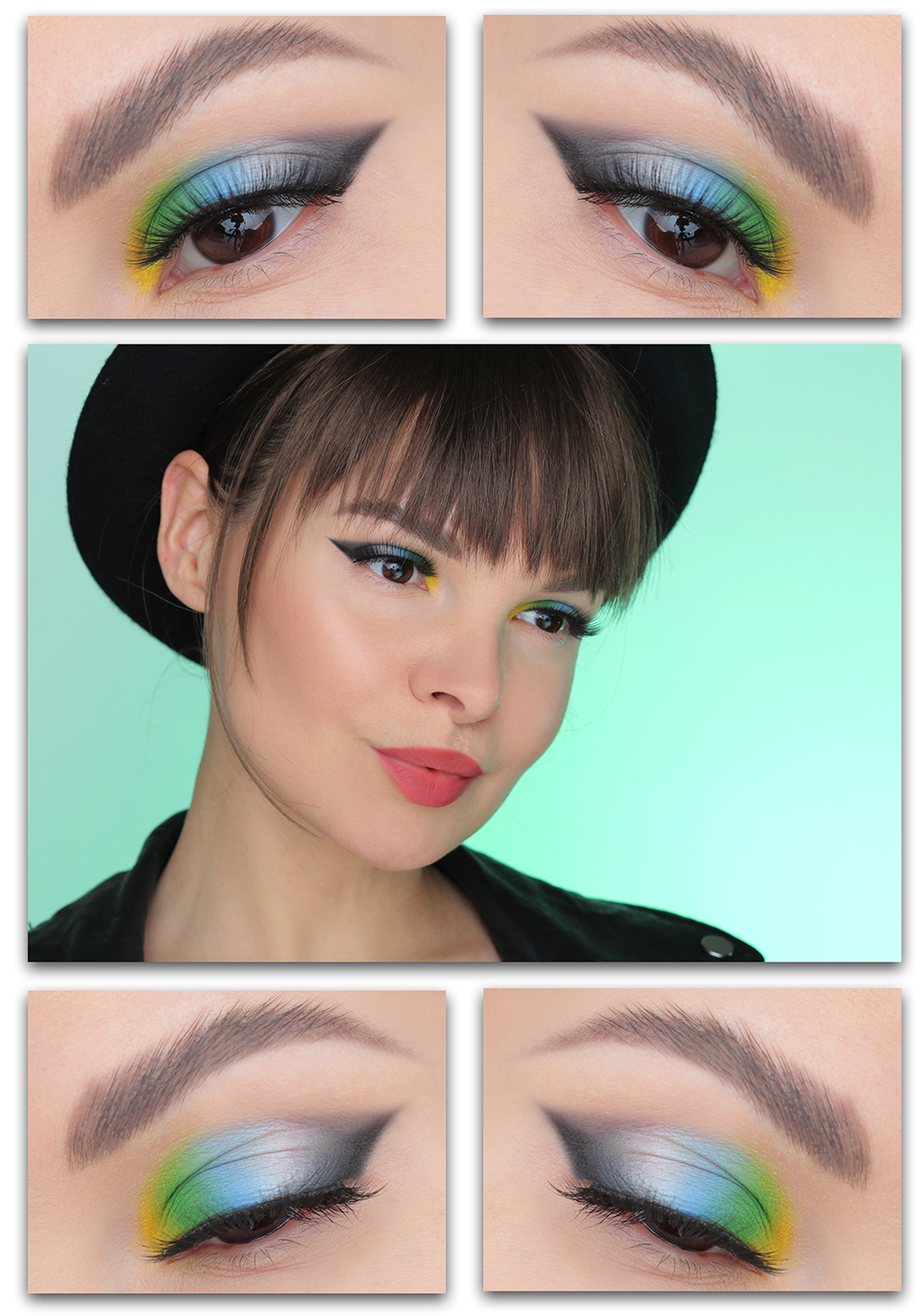 Как сделать цветной макияж на каждый день