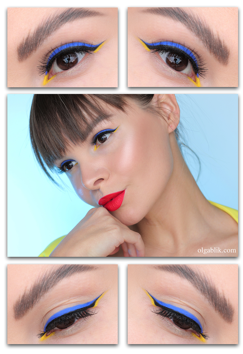 Цветные стрелки на глазах - как и чем рисовать