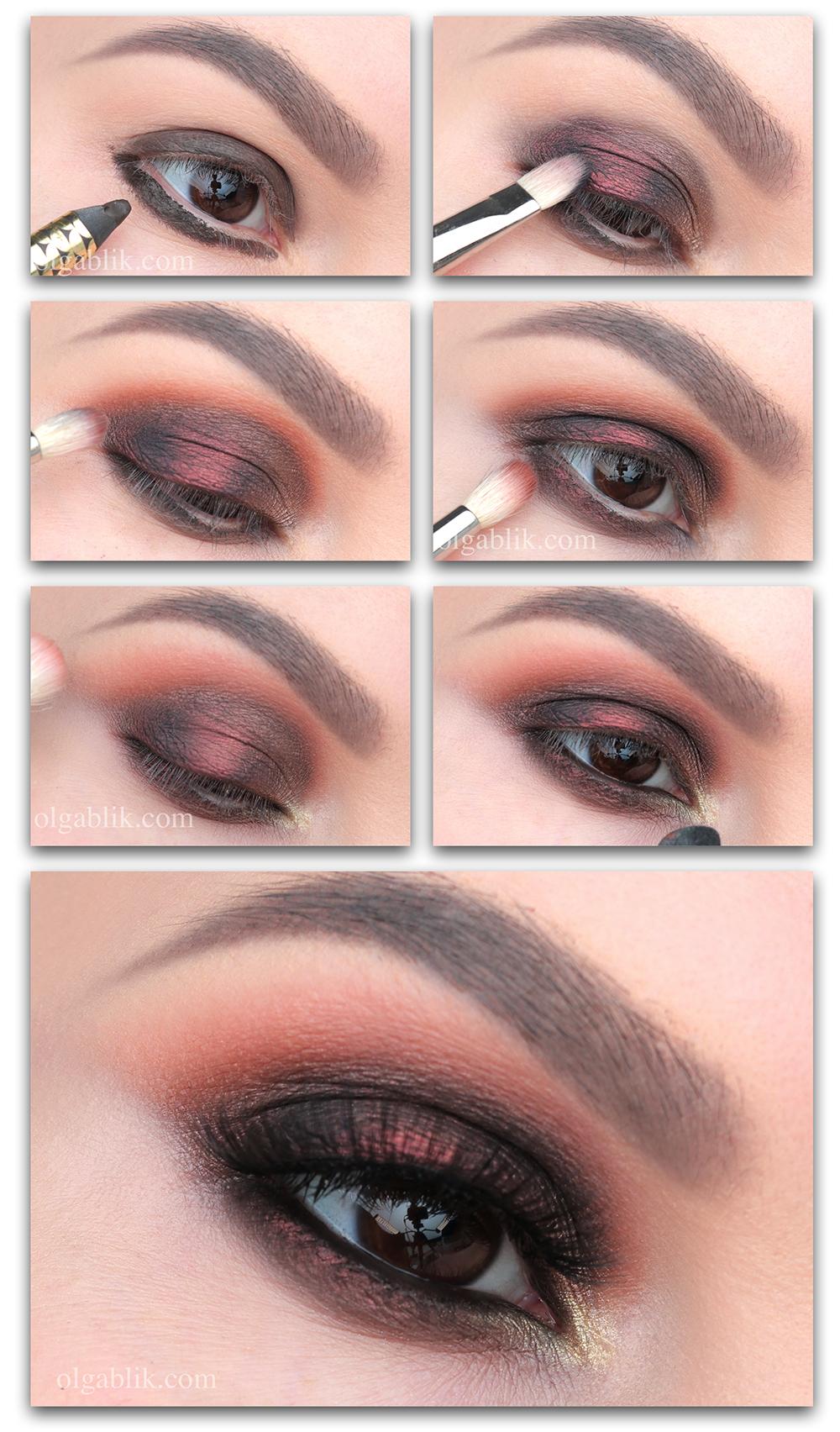 Новогодний макияж Smoky Eyes, макияж на Новый год, как накраситься на Новый год