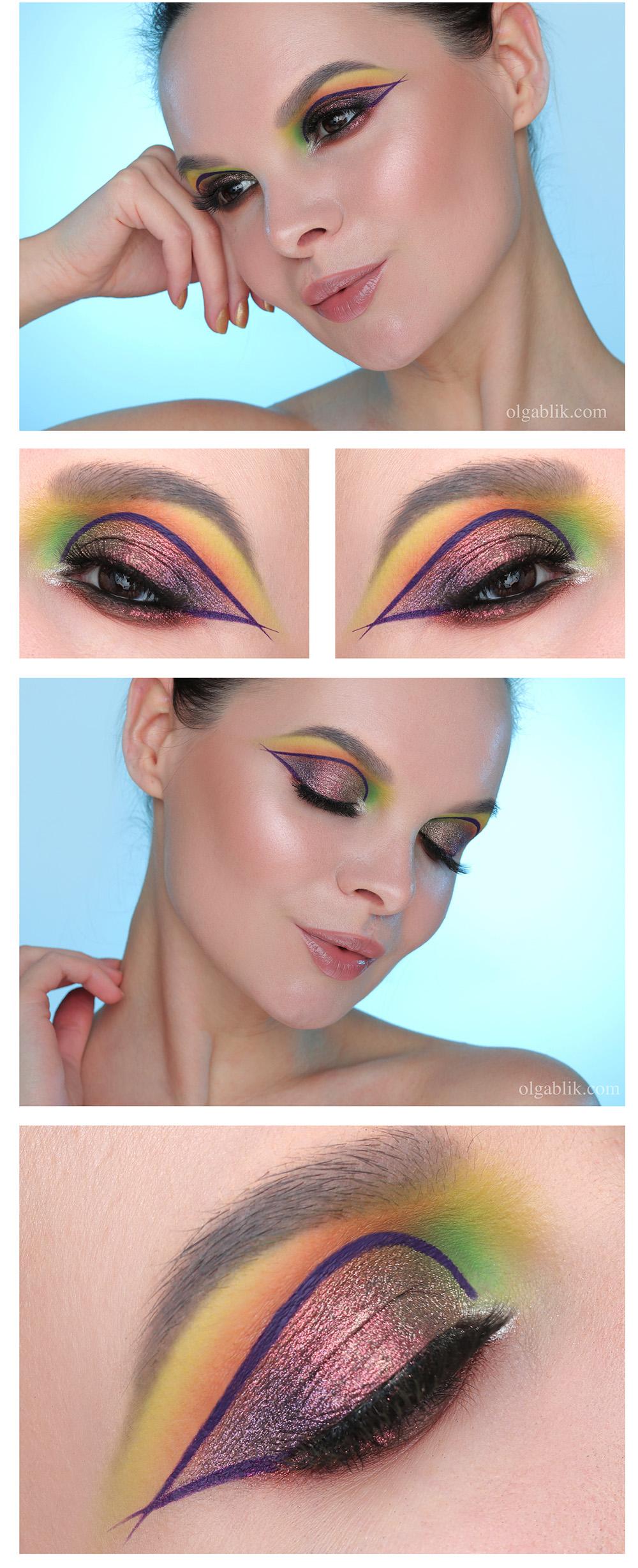 Макияж со стрелками и блестками на глазах, как сделать макияж со стрелками