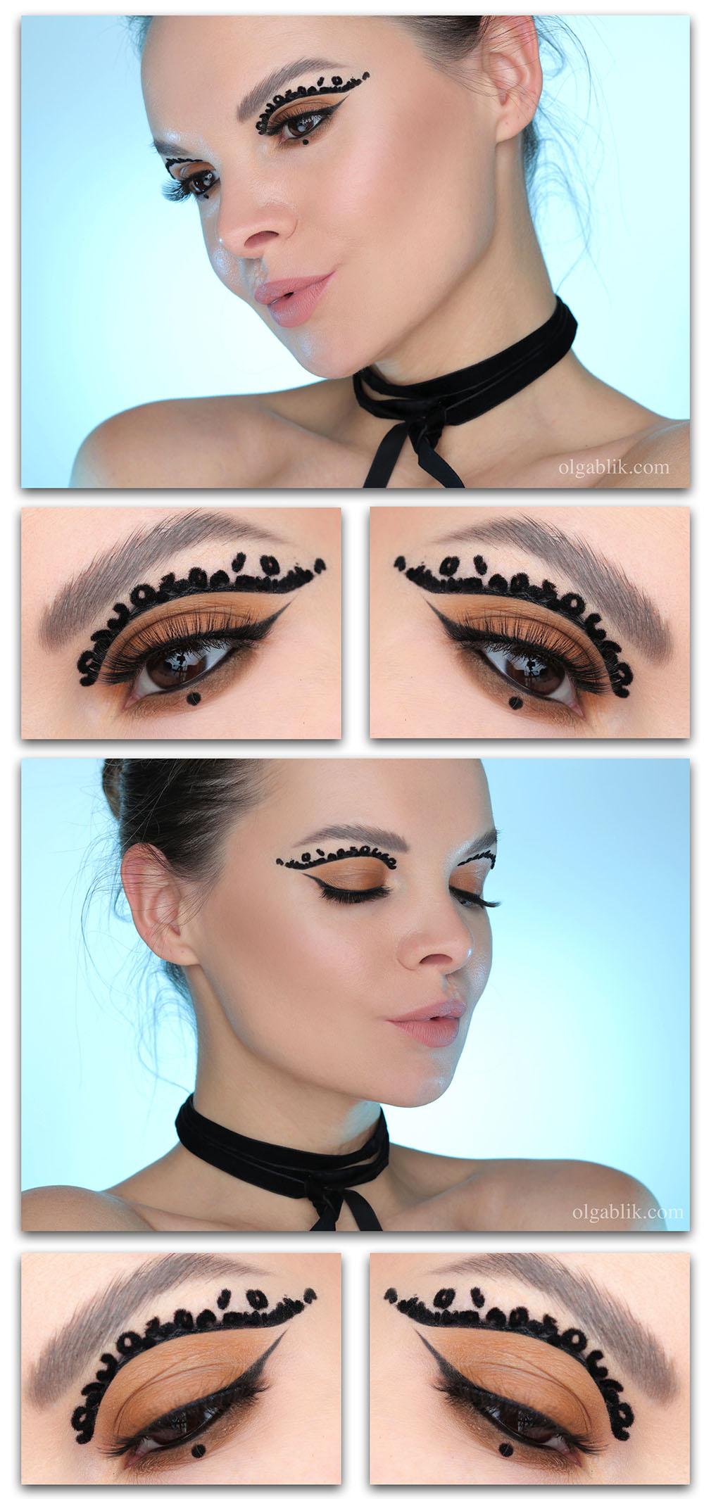 Оригинальный макияж глаз, необычный макияж глаз