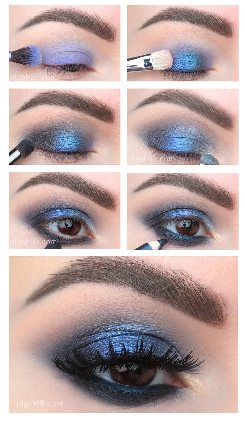 Вечерний макияж Смоки Айс пошагово, Макияж Smoky Eyes фото