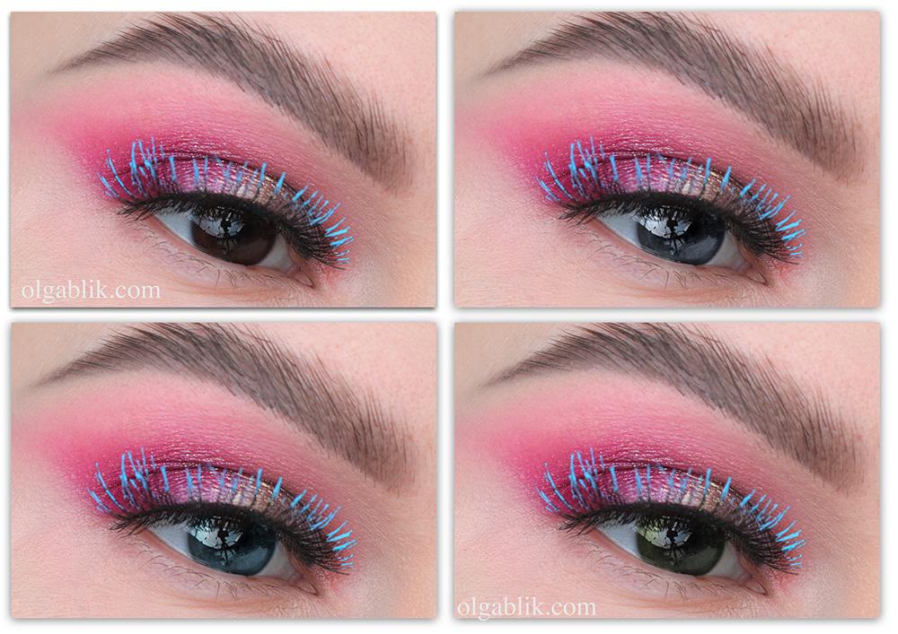 Макияж с розовыми тенями для глаз
