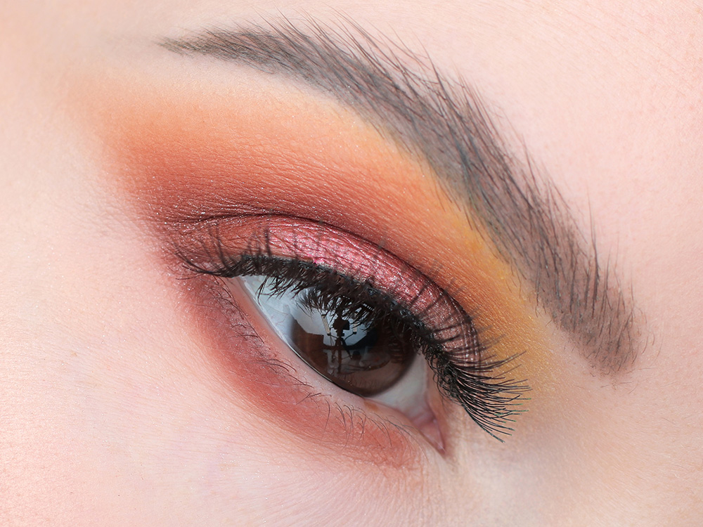 Макияж с оранжевыми тенями 2019 фото