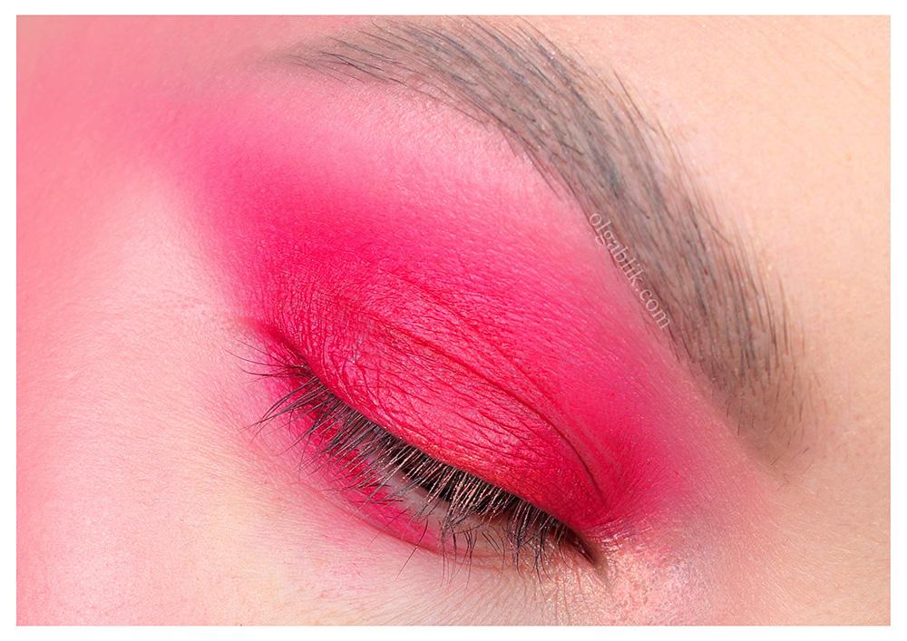 Розовый макияж глаз - фото, пошагово, урок