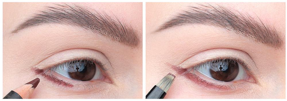 Нюдовый макияж глаз пошагово в карандашной технике