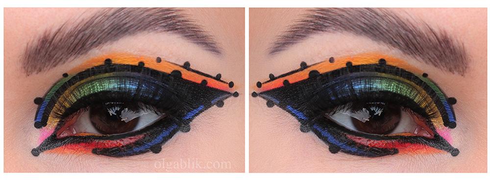 Космический макияж глаз