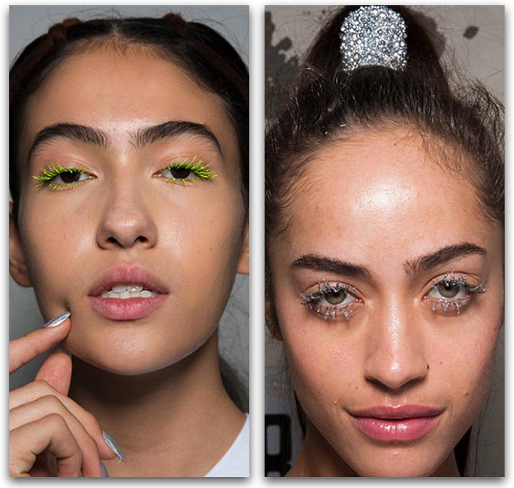 Макияж-2020: модные тенденции в макияже - Цветные ресницы