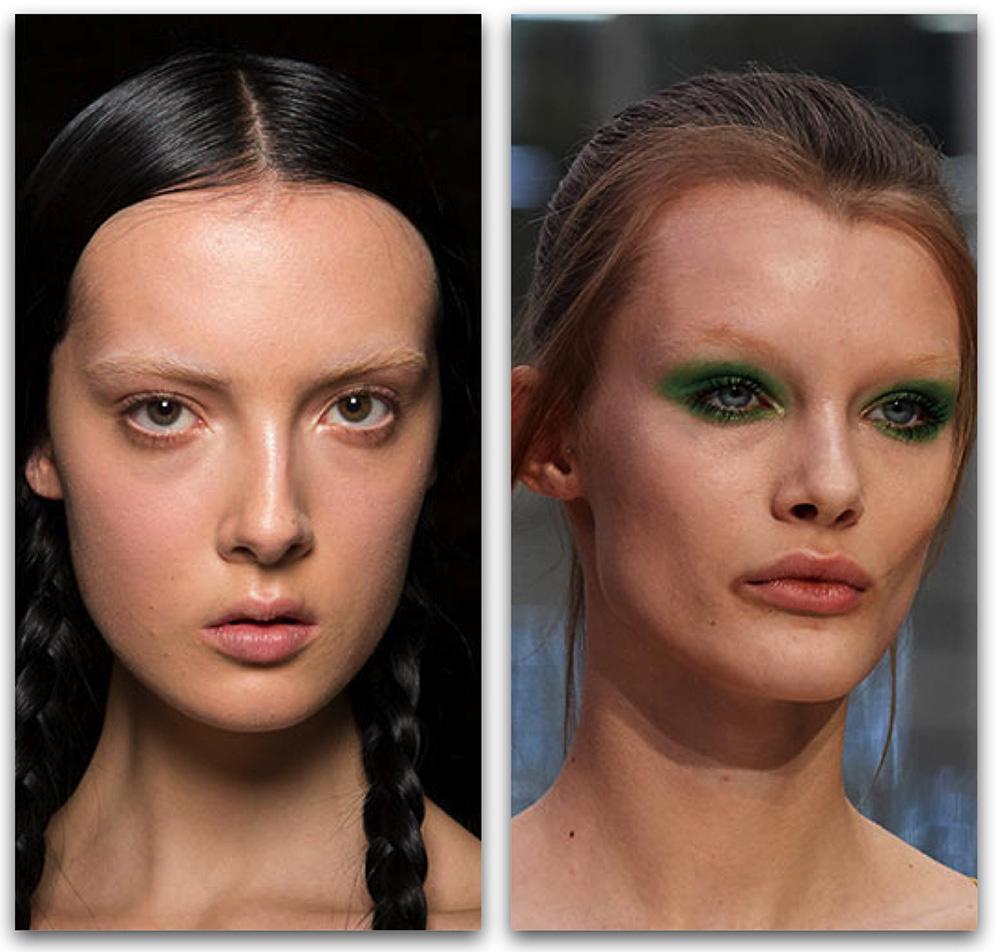 Макияж-2020: модные тенденции в макияже - Обесцвеченные брови