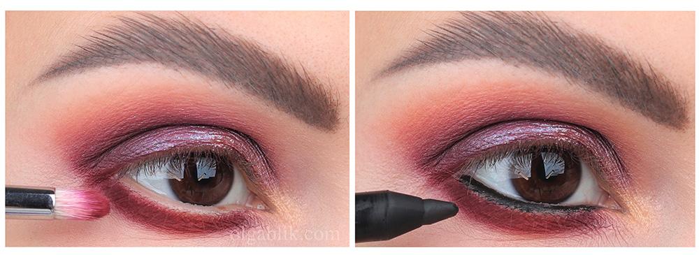 Винный макияж глаз Smoky Eyes - пошаговый фото-урок для карих глаз