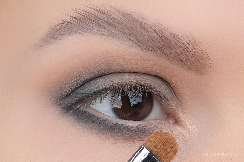Макияж глаз в серых тонах - пошагово урок макияжа