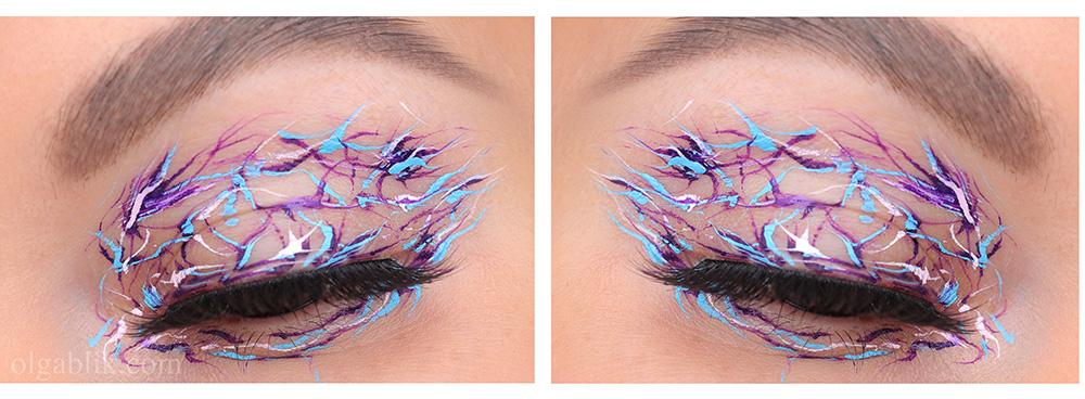 Оригинальный макияж с подводками для глаз