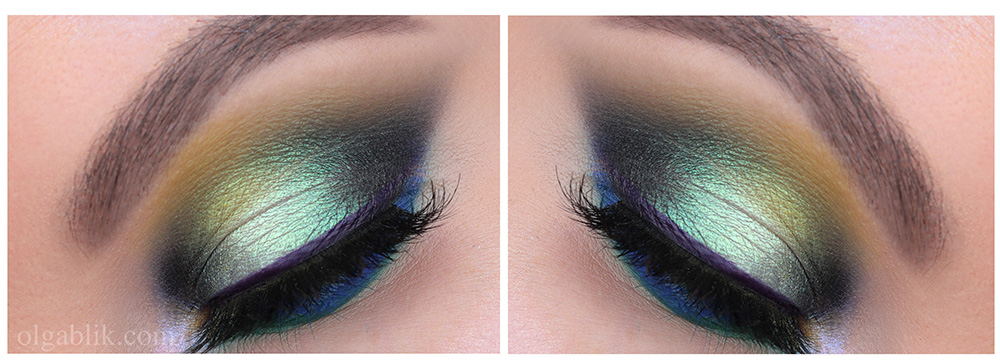 Зеленый макияж для карих глаз - фото