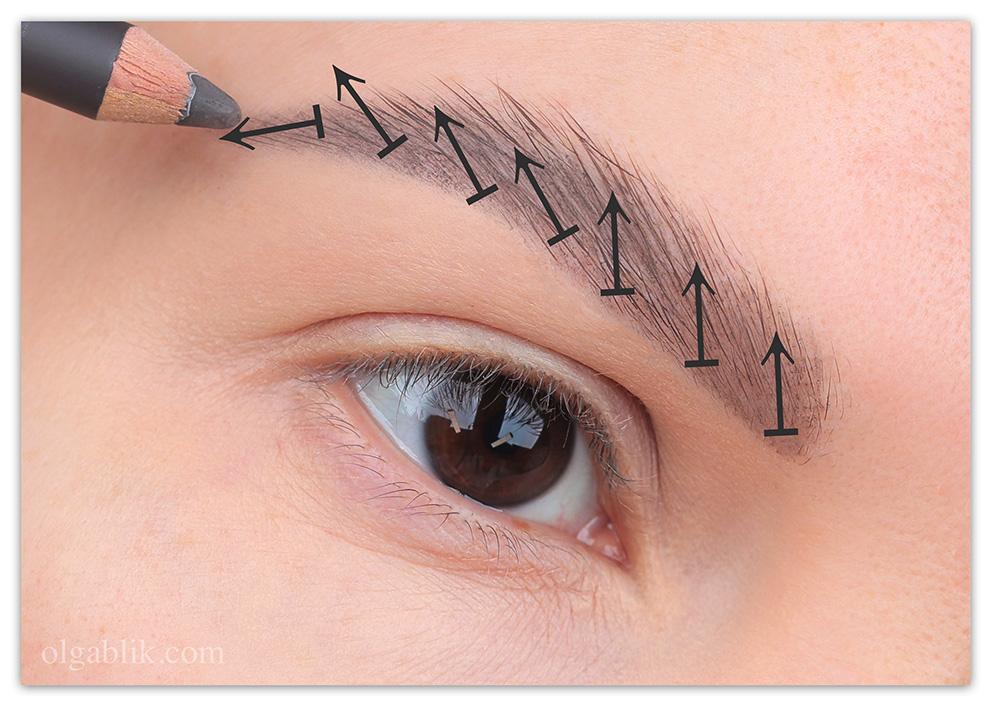 Как накрасить брови карандашом - пошаговый фото-урок