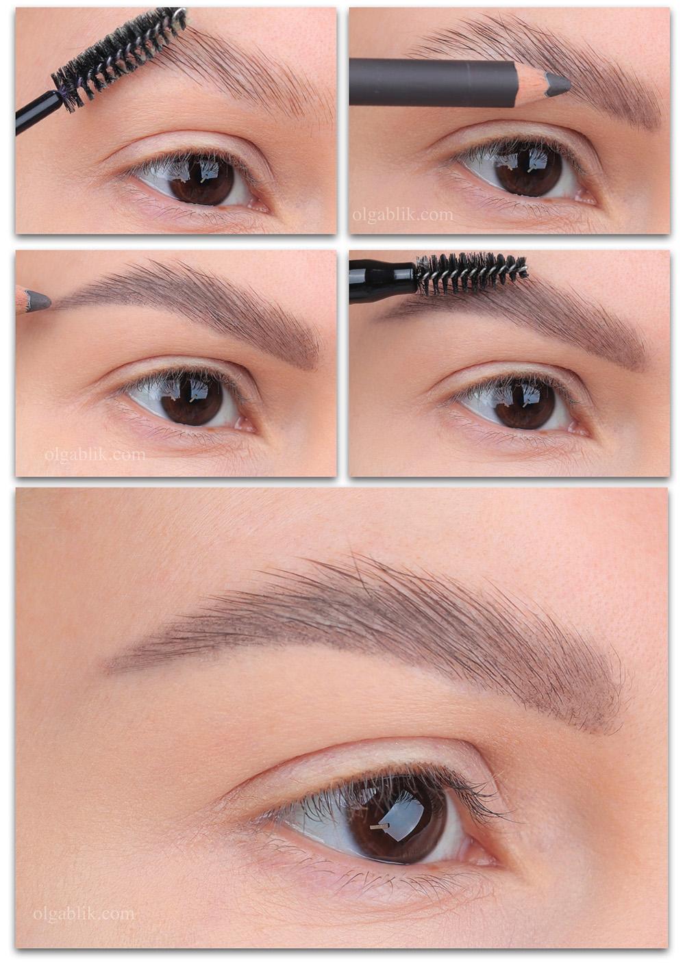Как сделать брови густыми с помощью макияжа