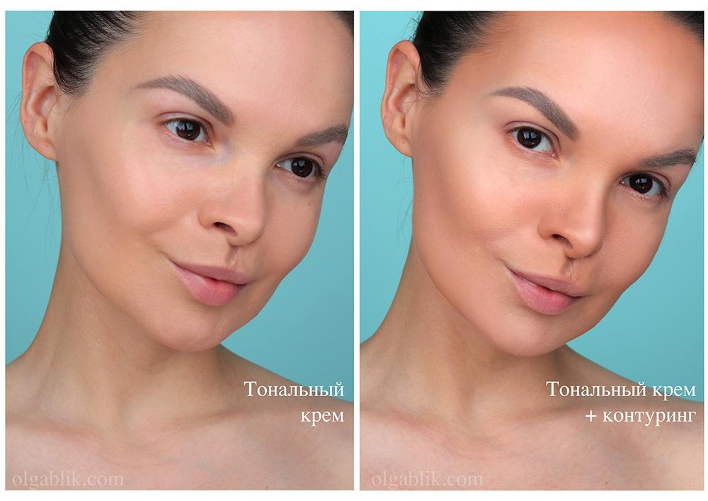 Контурирование лица - поэтапное нанесение с до и после