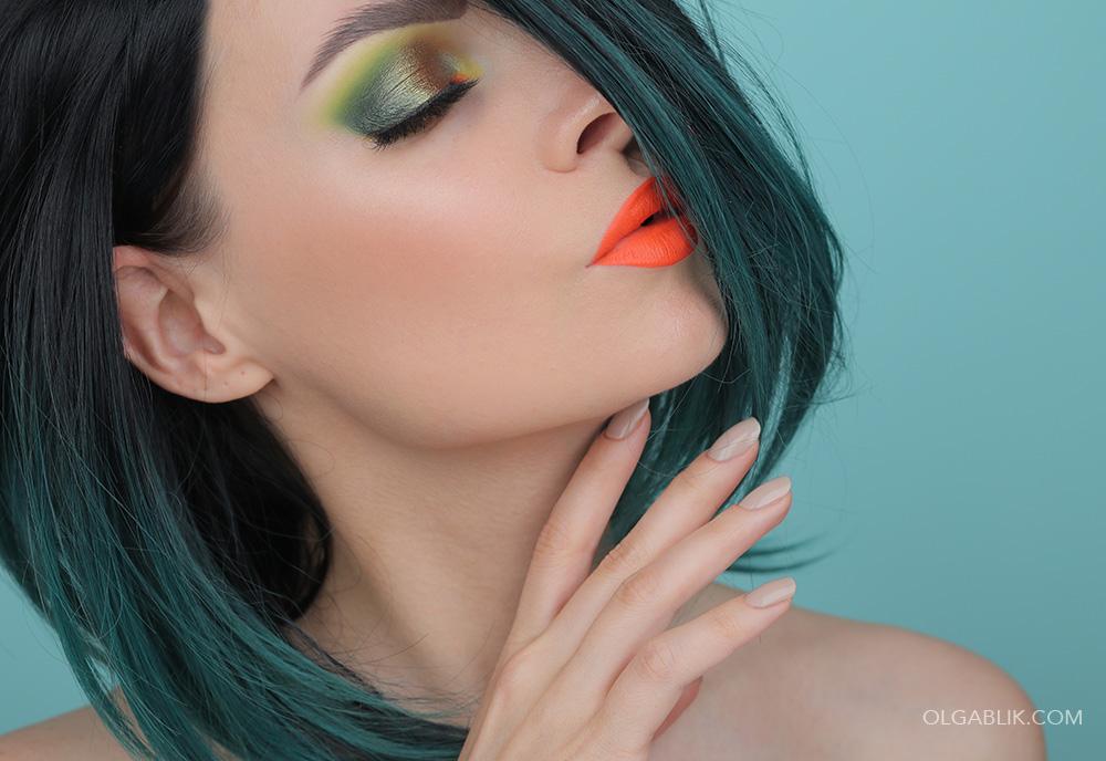 Пошаговый макияж в зеленых тонах - фото-урок