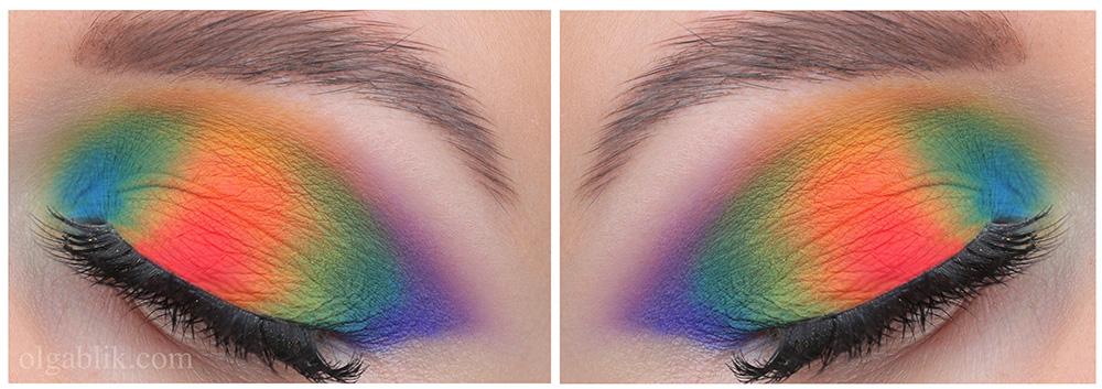 Цветной макияж 2019 в цветах радуги