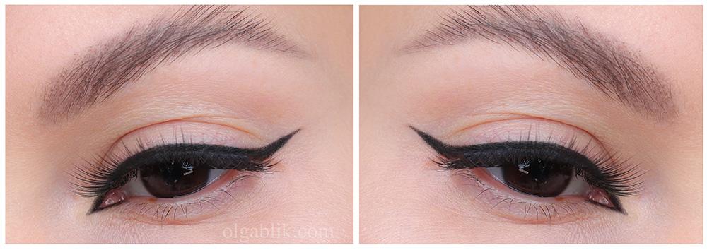 Арабские стрелки - пошагово макияж