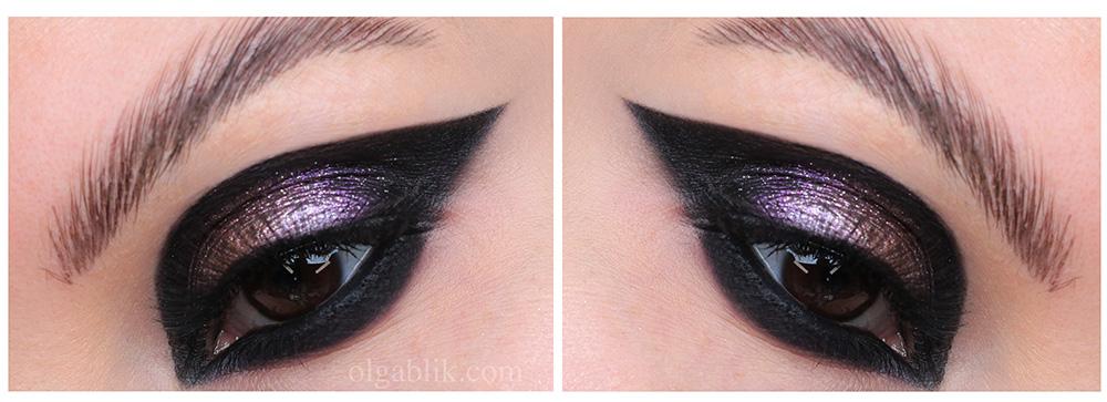Графичный макияж: кошачий глаз