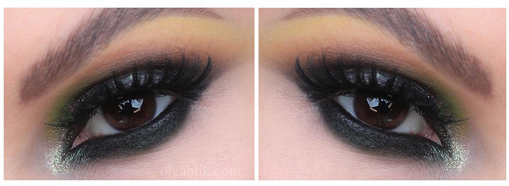 Восточный макияж с цветными тенями