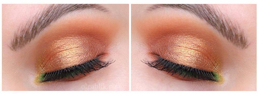 Свежий макияж для карих глаз