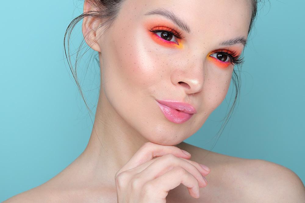 Как сделать оранжевые тени