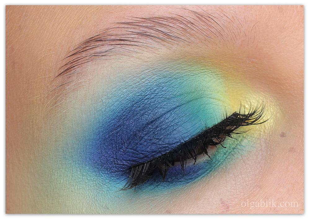 Цветной дрейпинг 2020 - макияж лица, фото