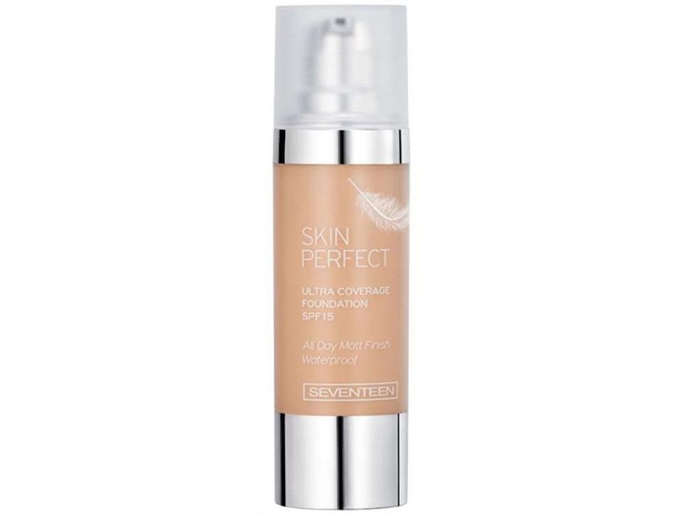 Лучший тональный крем для жирной кожи - Seventeen Skin Perfect Ultra Coverage Foundation